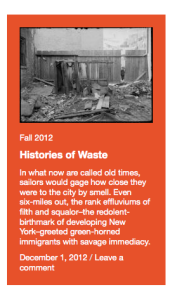 Histories of Waste